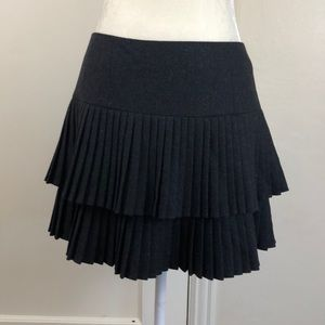 Nanette Lepore tiered micro pleated mini skirt